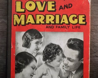 Love and Marriage book 1930s vintage book