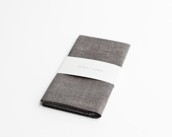 Men's handkerchief, grey charcoal, MADE TO ORDER