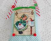 Retro Inspired Christmas Decoration/Door Hanger/Hanging Pillow
