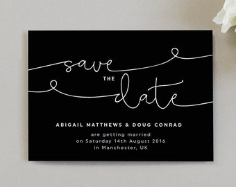 Kate Wedding Save The Date cards