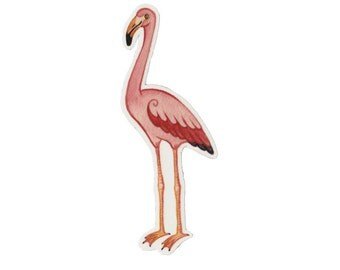 Flamingo Bird Magnet / Nature Art / Refrigerator Magnet / Office Magnet / Party Favor / Small Gift