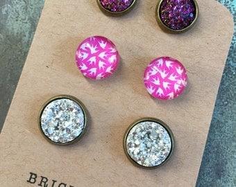 Pink Flight Earrings