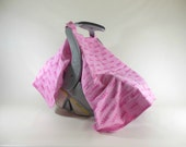 Car Seat Canopy, Car Seat Cover, Cart Cover, Blanket in Princess Crowns Pink