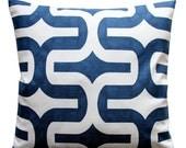 SALE Modern Accent Pillows- PREMIER Navy Blue Slub Embrace Pillow Cover- Choose Your Size- Hidden Zipper Closure- Cushion Cover- Throw Pillo