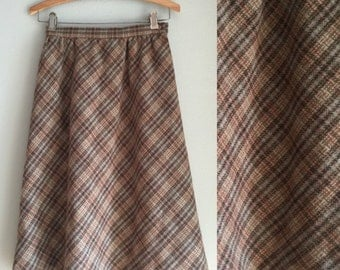 Plaid skirt size XS wool blend material