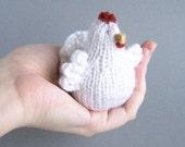 Chicken decor White easter chicken Stuffed bird home decoration Spring rustic country indoor decor Waldorf bird - 1piece