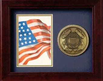 "Coast Guard 10"" x 8"" Medallion, Coast Guard  Frame"