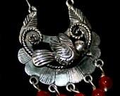 Filigree flying dove earrings