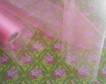Organza Fabric Pink 3 yards