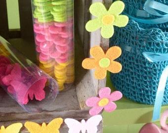 Felt Flowers 48pcs