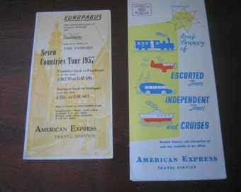 Brochures 1957 American Express Travel Service &  Europabus
