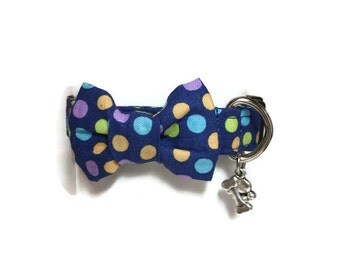 Multicolored Polka Dots Dog Collar size Extra Small
