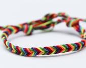 Gay Pride Bracelet LGBT Jewelry Lesbian Rainbow Friendship Fishtail Bracelet