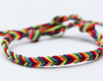 Gay Pride Bracelet LGBT Jewelry Lesbian Rainbow Friendship Fishtail Bracelet