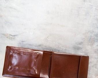 Vintage Kenton Fine Leatherware Brown Cowhide Leather Wallet with Box