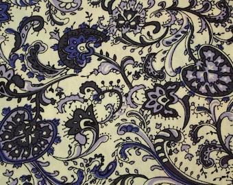C2044A - 145cmx100cm Cotton Fabric - Flower (purple)