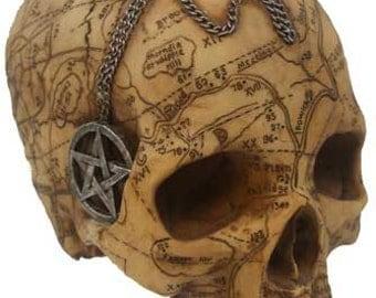 Salem Witch Skull Statue
