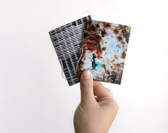 Textures mini notebooks, journal notebook, pocket notebook, notebook set, mini journal, small notebook, blank notebook, photograph cover