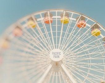 Santa Monica Pier Ferris Wheel Print, Santa Monica Wall Art, Home Decor, Photography Prints & Canvas Wraps