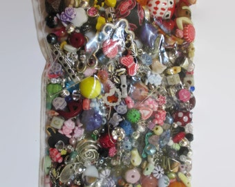 8 Ounces Destash/Beads/Cabochons/Findings/More