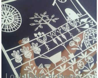 The Good Life - an original paper cut template by Loula Belle at Home