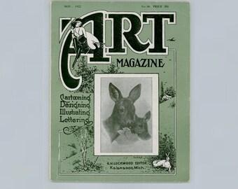 Popular Commercial Art Magazine Devoted to Cartooning, Design, Illustrating, Lettering, Figure Studies, November 1922 Vintage Periodical