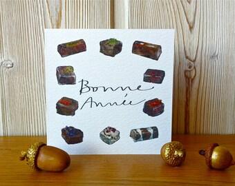 Christmas Card - Bonne Année - Illustrations Chocolats  -