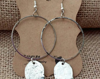 Hoop Earrings, Silver plated earrings, Large Hoop Earrings
