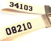 Zipcode Key Fob zipcode Key Chain Custom Colors Key Ring Lake House Key Fob Fabric Key Holder Custom Key Ring Webbing Key Holder Beach House