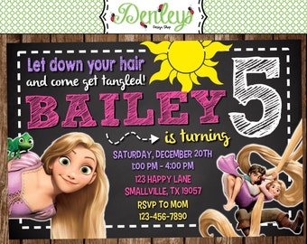 Tangled Princess Birthday Invitation (TG03)