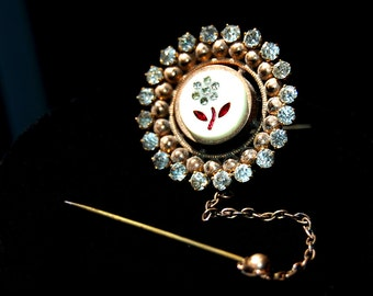 antique victorian brooch with security pin