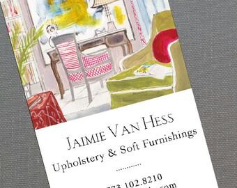 Interior Designer Business Card,Home Staging Business Card, Set of 50