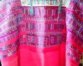 Huipil, Red handwoven Huipil, Vintage Huipil, Mexican. Guatemalan huipil, Frida Kahlo