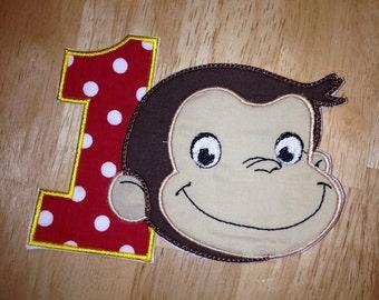 George Monkey Iron on patch