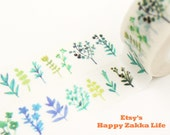 Vanilla Garden - Japanese Washi Masking Tape - 11 Yards