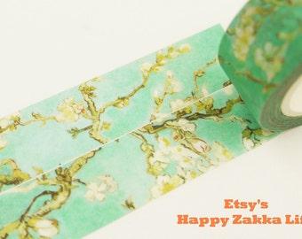 Apricot flower - Blooming Time Series - Japanese Washi Masking Tape - 7.6 Yard