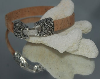Natural Cork Bangle