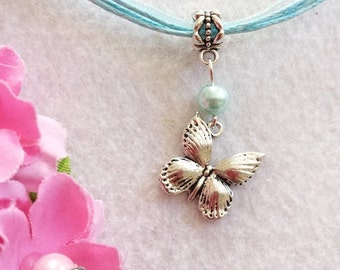 10 Butterfly Necklaces Party Favors