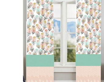 light coral curtains   etsy