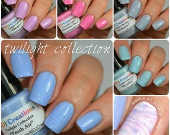 Twilight 5 piece collection of pastel creams on SALE Indie Polish by MDJ Creations