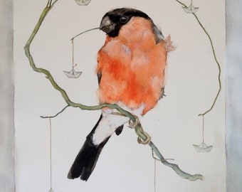 Card with Bullfinch
