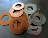 1 Inch OD Metal Washer Stamping Blanks, Lot of 12, Choice of Copper or Aluminum, Ready to Ship