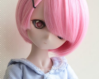 Dollfie Dream DD SD 1/3 Re:zero Ram/Rem wig 23cm [Pink is in Stock,LAST]