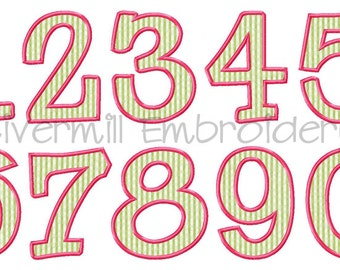 Riley Applique Numbers Machine Embroidery Designs - 5 Sizes