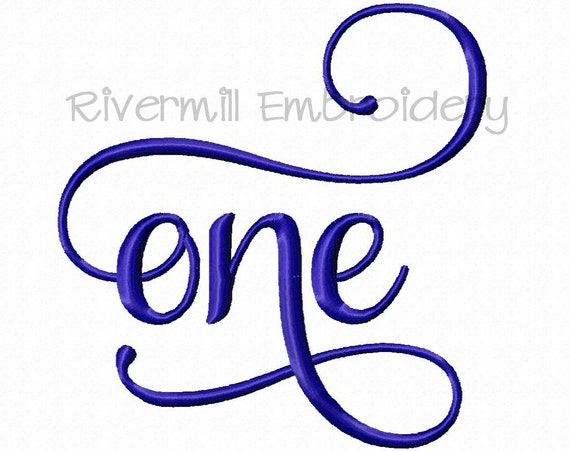 One machine embroidery word design sizes