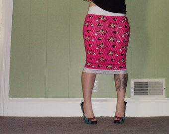Minnie Mouse - Pencil Skirt