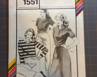 Stretch and Sew 1551 Misses Rugby Collection Vintage Ann Person