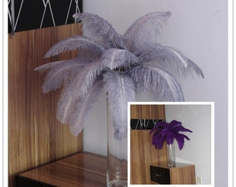 380pieces 12-14inch feathers( 190 gray and 190 purple) for Wedding centerpieces