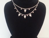 NOW ON SALE Vintage Rhinestone Necklace Collectible Retro Collectible Costume Jewelry