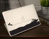 Wakeboarding Superman Macbook Decal / Macbook Sticker / Laptop Decal / Car Decal